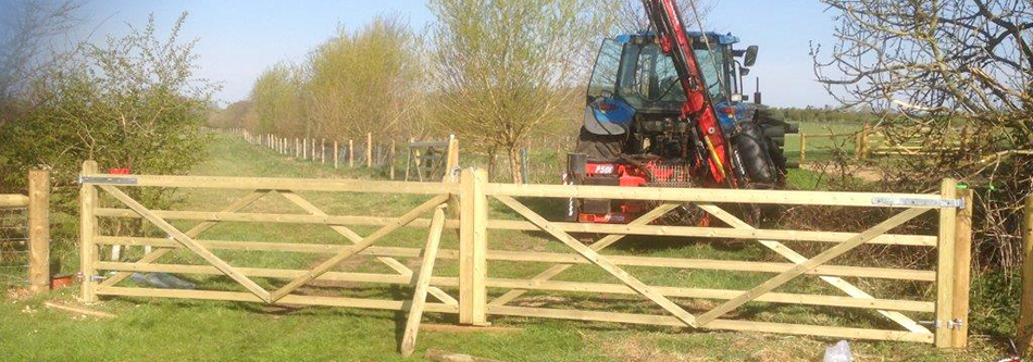 12ft wooden gates