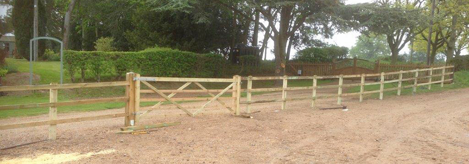 Standard post and 3 rail fencing